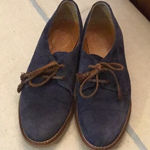 Madewell Blue Suede Shoes